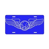 Sensor Operator Wings Aluminum License Plate