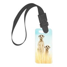 Two Meerkats Luggage Tag