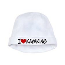 I Heart Kayaking baby hat