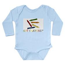 Got Crayons? Long Sleeve Infant Bodysuit