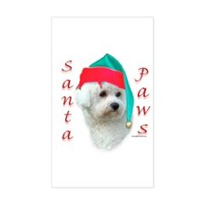 Bichon Paws Rectangle Decal