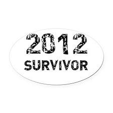 2012 survivor Oval Car Magnet