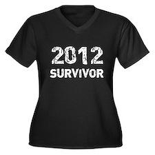 2012 survivor Women's Plus Size V-Neck Dark T-Shir