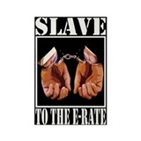 """E-Rate Slave"" Rectangle Magnet"