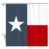 Bold Texas Shower Curtain Lone Star State Flag