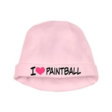 I Heart Paintball baby hat