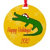 Unique Alligator farm Ornament