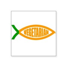 Vegetarian Carrot Oval Sticker