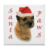 Santa Paws Border Terrier Tile Coaster