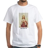 "Pure White ""Jesus Loves Shit"" T-Shirt"