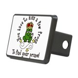 Kiss A Few Frogs Rectangular Hitch Cover