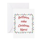 Brittany Merry Greeting Cards (Pk of 10)
