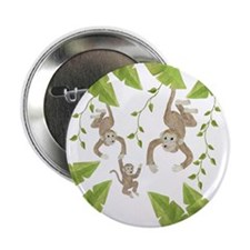 "Monkey 2.25"" Button (10 pack)"