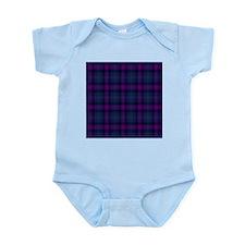 purple tartan Infant Bodysuit