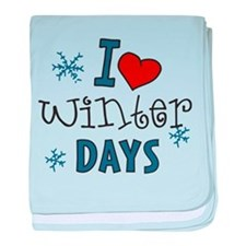 I Love Winter Days baby blanket