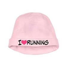I Heart Running baby hat