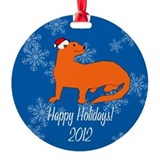 Ferret Holiday Ornament