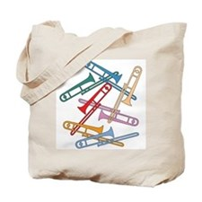 Colorful Trombones Tote Bag