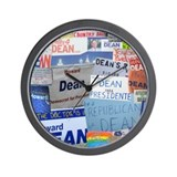 Unique Howard dean Wall Clock