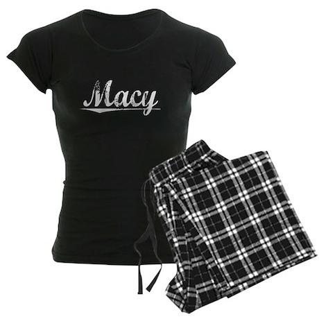 Macy, Vintage Women's Dark Pajamas
