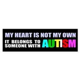 Autism owns my heart Bumper Stickers
