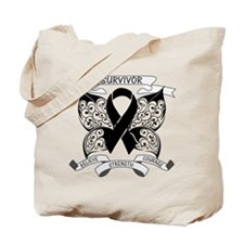 Survivor Strength Melanoma Tote Bag