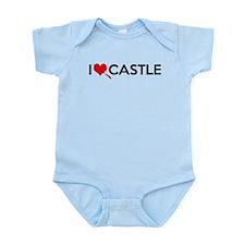 I Love (Heart) Castle Infant Bodysuit
