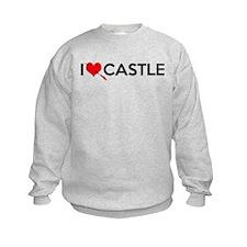I Love (Heart) Castle Sweatshirt