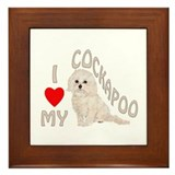 I Love My Cockapoo Framed Tile