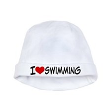 I Heart Swimming baby hat