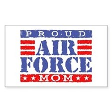 Proud Air Force Mom Rectangle Decal