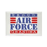 Proud Air Force Grandma Rectangle Magnet