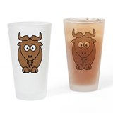 Goat - Gnu front facing Drinking Glass
