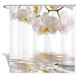 White flowers Shower Curtains