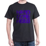 Hard Core Hebrew Rough Blue Black T-Shirt