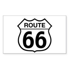 Route 66 Rectangle Decal