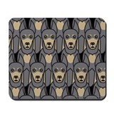 Blue Doberman Pinschers Mousepad