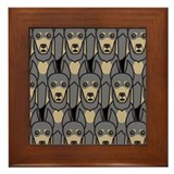 Blue Doberman Pinschers Framed Tile