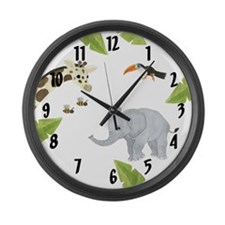 Jungle Animal Large Wall Clock