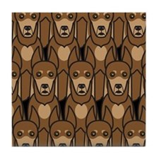 Dobermans Tile Coaster