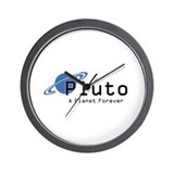 Funny Planet pluto Wall Clock