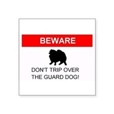 Dont trip over the guard dog Rectangle Sticker