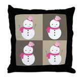 Snowman Christmas Foursome Throw Pillow