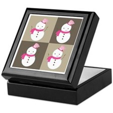 Snowman Christmas Foursome Keepsake Box