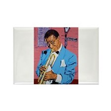 Satchmo on Bourbon Street Rectangle Magnet