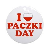 I Heart Paczki Day Ornament (Round)