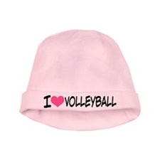 I Heart Volleyball baby hat