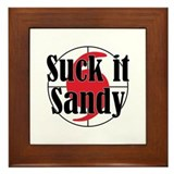 Suck it, Sandy Framed Tile
