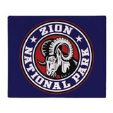 Zion Ram Circle Throw Blanket