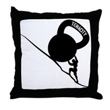 Sisyphus Kettlebell Tenacity Throw Pillow